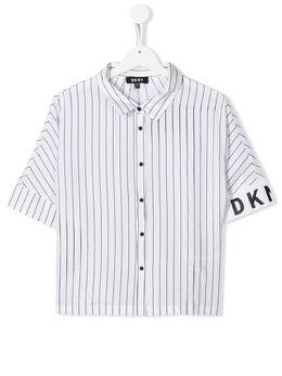 DKNY Kids рубашка в полоску с короткими рукавами D35Q6310B