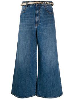 Stella McCartney укороченные джинсы широкого кроя 600447SNH54