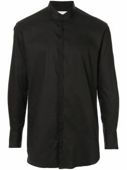 Strateas Carlucci полосатая рубашка с воротником-стойкой SCSS20D1MSHRT002BLK