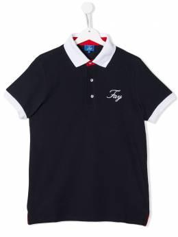 Fay Kids рубашка-поло с контрастной окантовкой 5M8091MX010