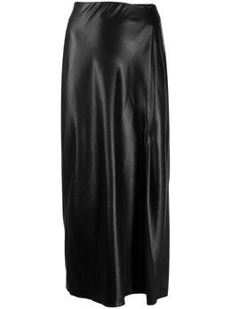 T By Alexander Wang юбка миди из искусственной кожи 4WC1205005
