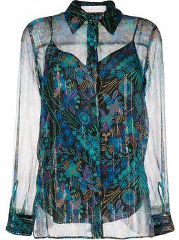See By Chloe рубашка с цветочным принтом CHS20SHT50020