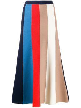 Victoria, Victoria Beckham трикотажная юбка в полоску колор-блок 2120KSK000475A