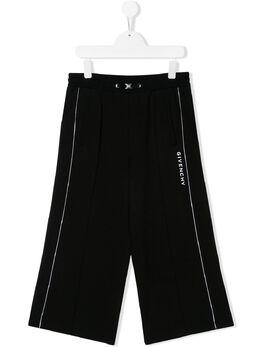 Givenchy Kids спортивные брюки широкого кроя H1408809B