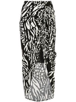 Veronica Beard юбка Ari с анималистичным принтом 1911CP0043209
