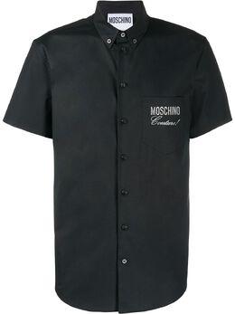 Moschino рубашка с логотипом A02072036