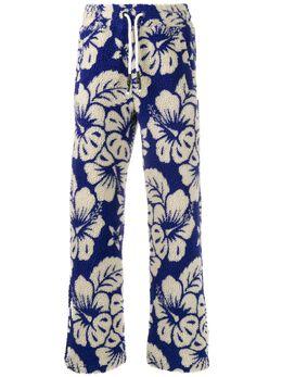 Palm Angels флисовые брюки с гавайским принтом PMCA055R207280123001