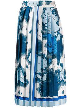 Victoria, Victoria Beckham плиссированная юбка с принтом 2120WSK000635A