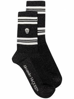 Alexander McQueen спортивные носки с принтом Skull 5846183B75Q