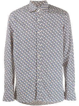 Tagliatore рубашка с принтом BAE10070CARNABYW