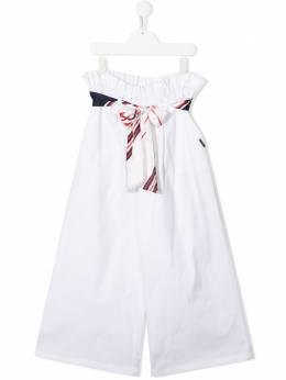 MSGM Kids широкие брюки с лентами 022207