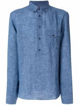 Brunello Cucinelli рубашка с длинными рукавами и карманом в ковбойском стиле MF6303038C015