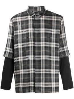 Neil Barrett клетчатая рубашка свободного кроя PBCM1290CN051C