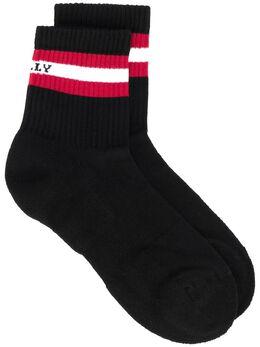 Bally носки с контрастной полоской 6233646