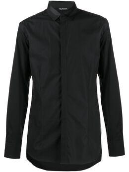 Neil Barrett комбинированная рубашка PBCM1327CN064C