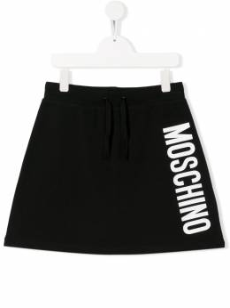 Moschino Kids юбка мини с логотипом HDJ01PLDA13