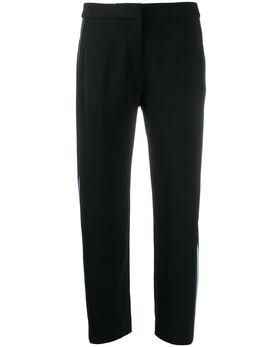 Kenzo укороченные брюки с лампасами FA52PA0155AC
