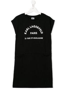 Karl Lagerfeld Kids платье-футболка с логотипом Z1213409B