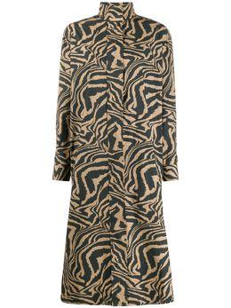 Ganni платье свободного кроя с принтом F4257