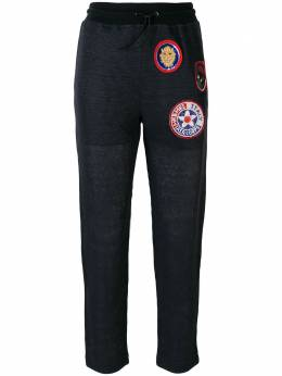 Mr & Mrs Italy patched slim trousers JG042E