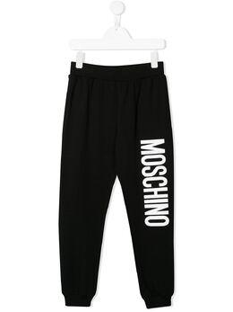 Moschino Kids спортивные брюки с логотипом HUP03LLDA00