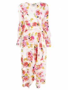 Essentiel Antwerp платье Valoumi с запахом и цветочным принтом VALOUMI