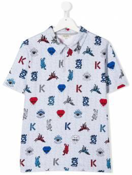 Kenzo Kids рубашка-поло с принтом KQ11548