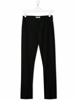 MSGM Kids брюки с нашивкой-логотипом 022381T