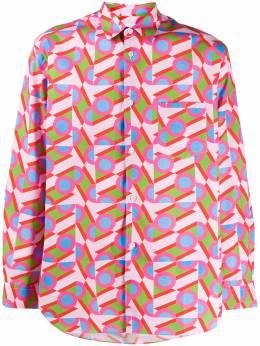 Comme Des Garcons Shirt рубашка с абстрактным принтом S28033