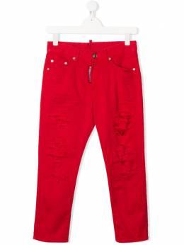 Dsquared2 Kids джинсы кроя слим с эффектом потертости DQ02VLD00Y4