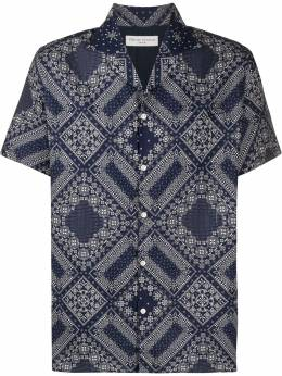 Officine Generale рубашка с геометричным принтом MSHI017