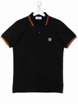 Stone Island Junior рубашка-поло из ткани пике MO721321348