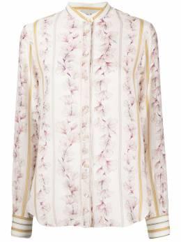 Forte_Forte рубашка с цветочным принтом 7089MYSHIRT