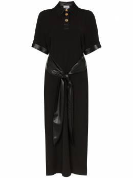 Nanushka платье миди Leila с короткими рукавами WDR00235