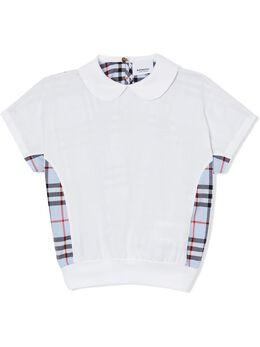Burberry Kids рубашка-поло с клетчатой вставкой 8022093