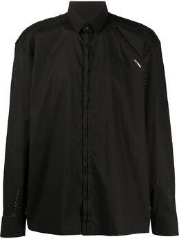 Les Hommes рубашка с перфорированными рукавами LIS701403B