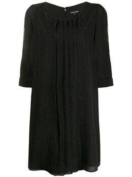 Emporio Armani платье-трапеция с разрезами на рукавах 3H2A752NXFZ