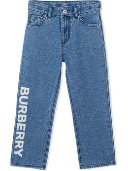 Burberry Kids джинсы с логотипом 8025709