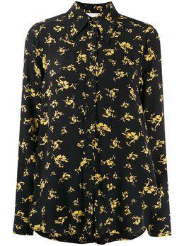 Ganni рубашка с цветочным принтом F4164