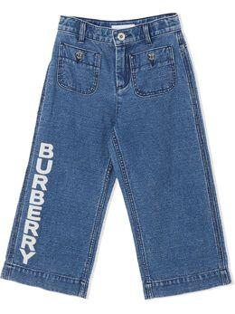 Burberry Kids джинсы с логотипом 8023021