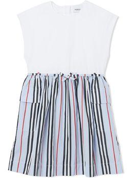 Burberry Kids платье мини в полоску Icon Stripe 8022313