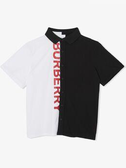 Burberry Kids рубашка с логотипом 8022079