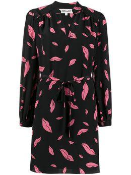 Dvf Diane Von Furstenberg платье Falling Lips с завязками на талии 13690DVF