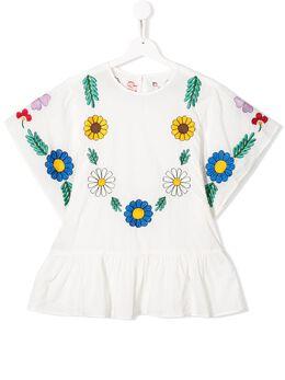 Stella McCartney Kids блузка с цветочной вышивкой 596566SOK62