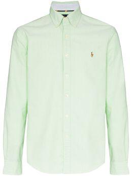 Polo Ralph Lauren рубашка оксфорд с вышитым логотипом 710784299012