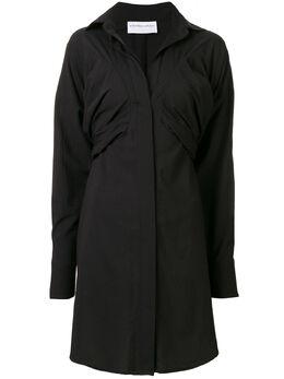 Strateas Carlucci платье-рубашка Bust Macro SCSS20D1WDRS001BLK