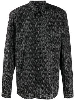 Salvatore Ferragamo рубашка с логотипом 726558