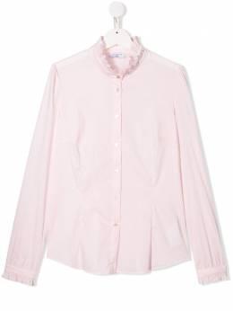 Monnalisa рубашка с оборками и заклепками 17CAMTPOPES0091