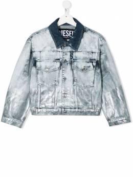 Diesel Kids джинсовая куртка с длинными рукавами и выбеленным эффектом 00J4SPKXB36