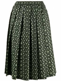 Aspesi плиссированная юбка с принтом S0G2210G225